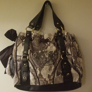 Juicy Couture Snake Print Daydreamer Purse Bag
